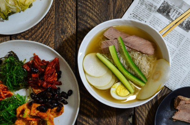 Naengmyeon, (Korean Cold Noodle Soup.)- What's Cooking_