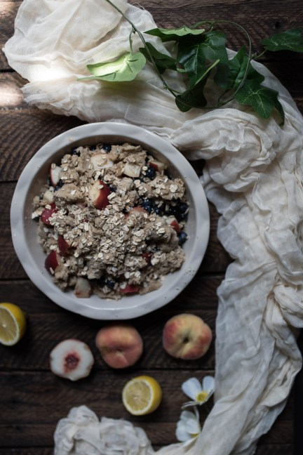Peach Blueberry Crumble - What's Cooking-10