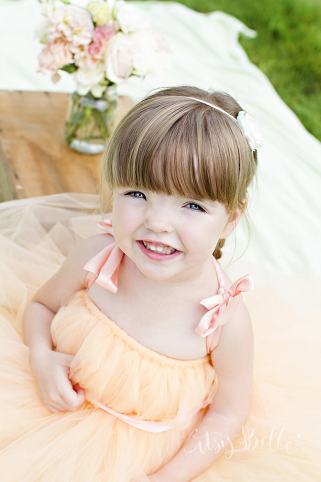 Peach Flower Girl Tutu Dress