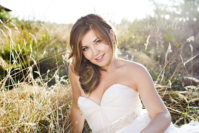 Sarah Seven Dress Rustic Wedding Bridal Portrait