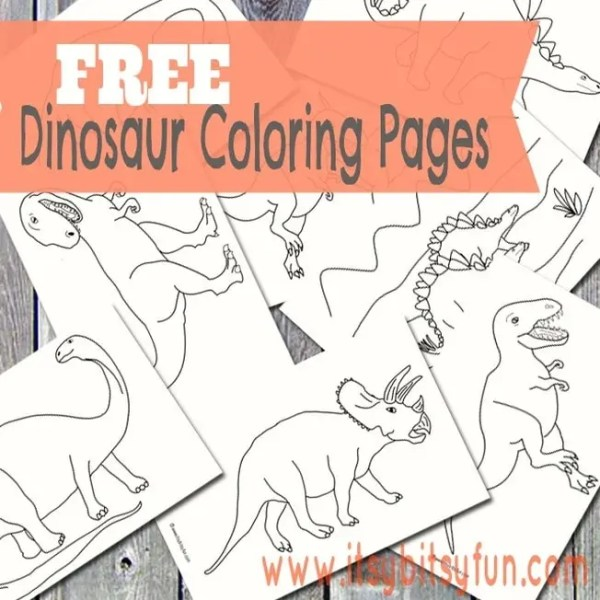 free printable dinosaur coloring pages # 17