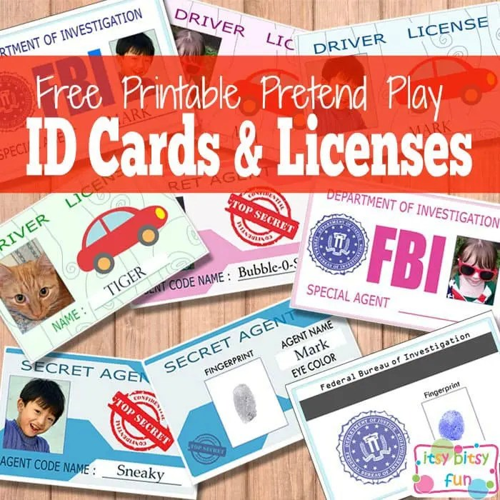 Free Printable Licenses And Id Cards For Kids Itsy Bitsy Fun