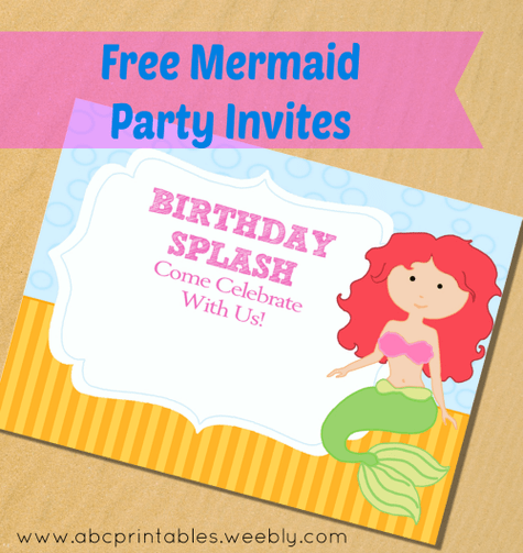 free printable little mermaid party
