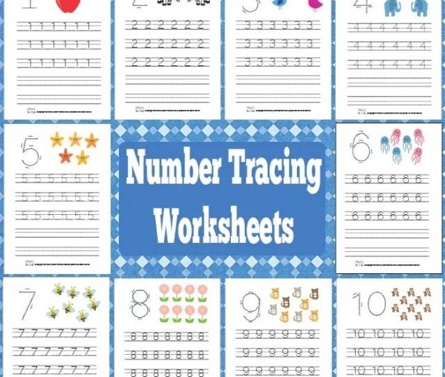Get Printable Number Tracing Worksheets