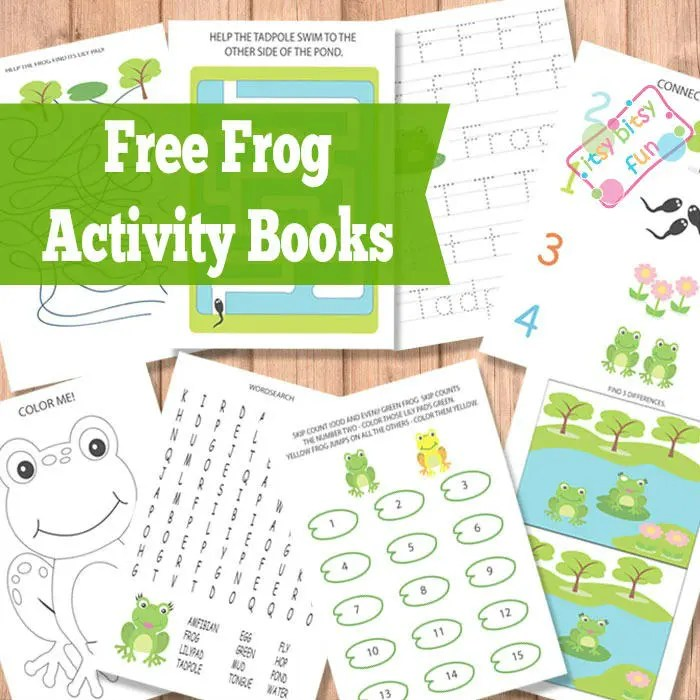 Coloring Pond Frogs
