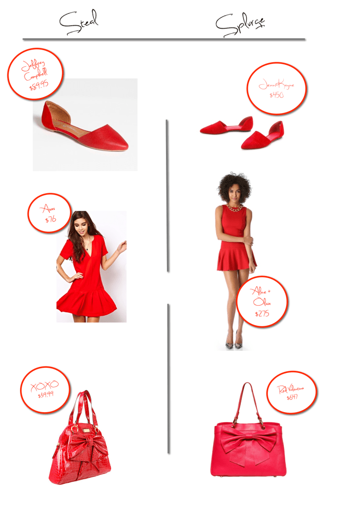 red steal and splurge