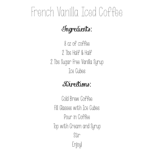 iced coffee directions
