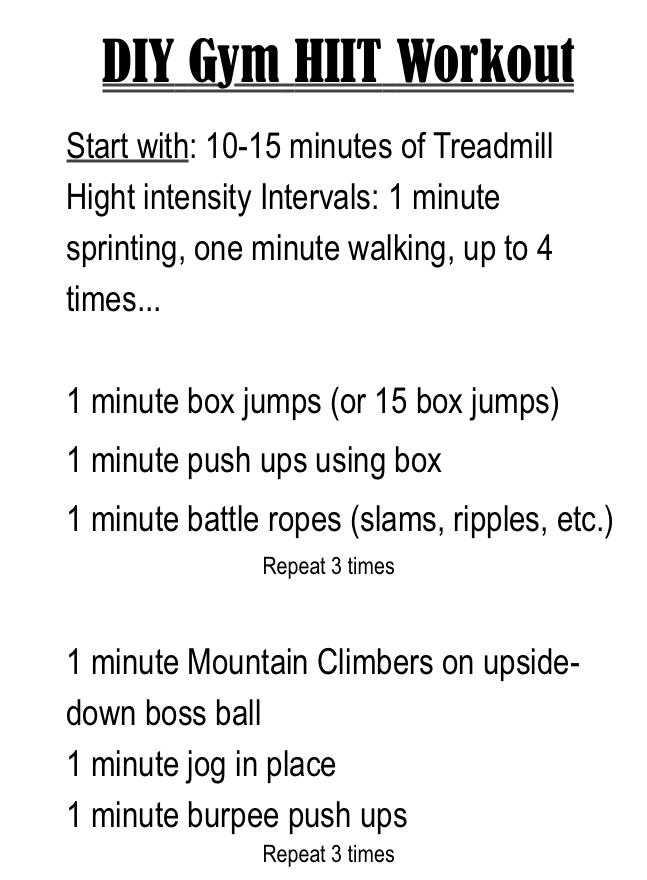 DIY HIIT Gym Workout