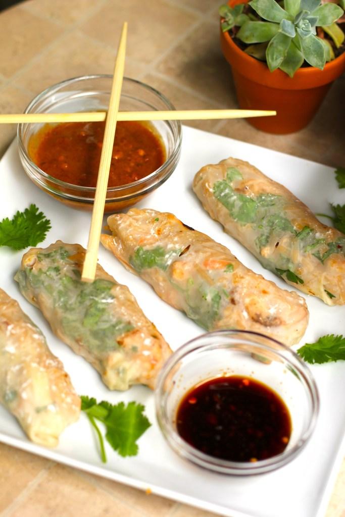 spring rolls, itsy bitsy indulgences