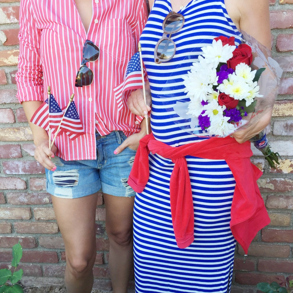 red, white, and blue ensemble, itsy bitsy indulgences