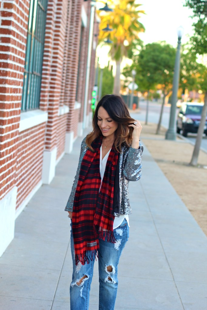 buffalo check scarf, itsy bitsy indulgences