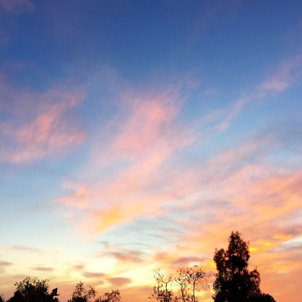 sunset, itsy bitsy indulgences