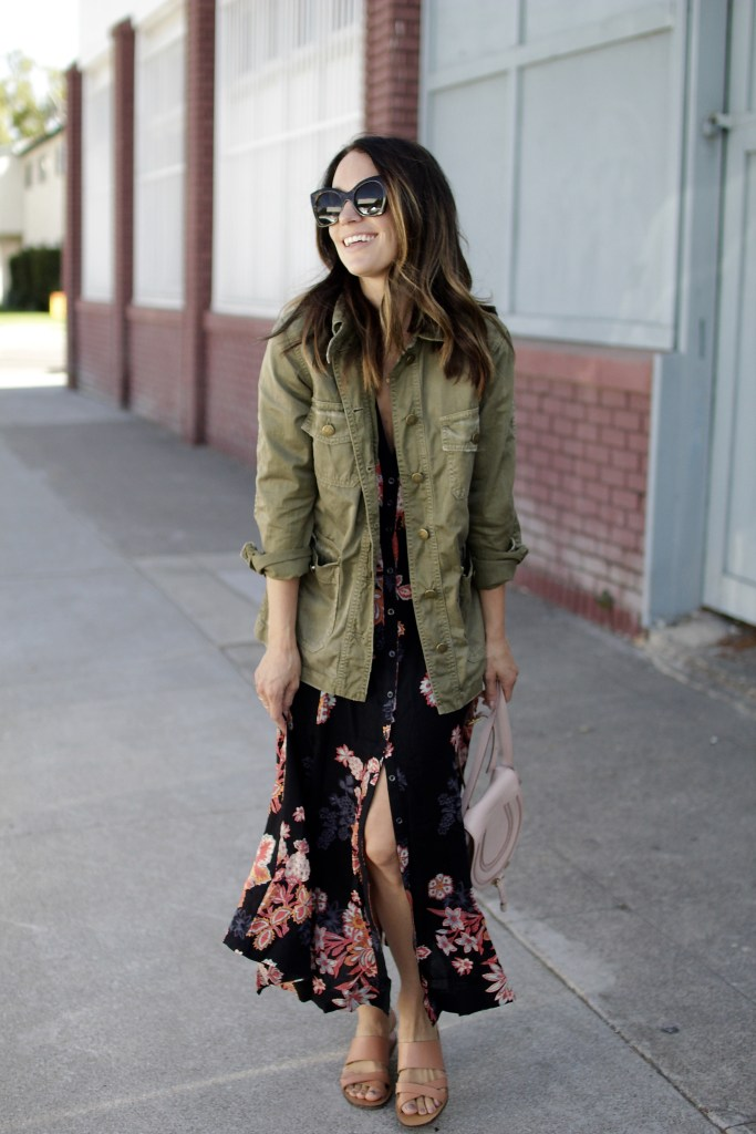 fall floral dress, itsy bitsy indulgences