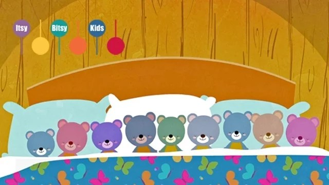 Ten In The Bed Lyrics - ItsyBitsyKids Nursery Rhymes