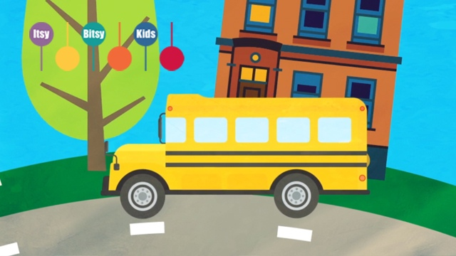 Lyrics Of The Wheels On The Bus Nursery Rhyme