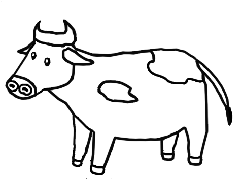 Coloring page cow In pdf for free