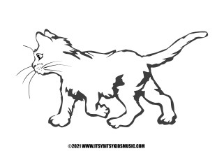 coloring page baby cat in pdf for free