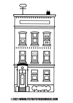 coloring page apartment houdr in pdf for free