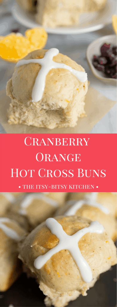 Cranberry orange hot cross buns are quick to make (for a yeast bread) and delicious enough to be a sure crowd-pleaser this Easter! #Easter