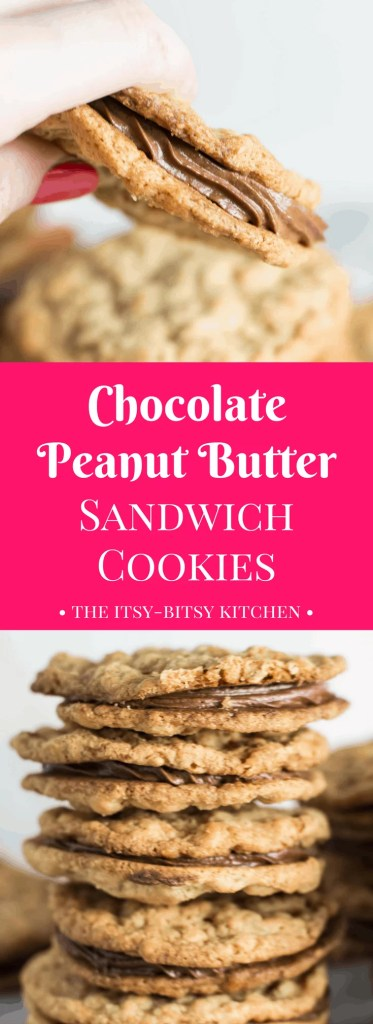 Chewy peanut butter cookies, whipped chocolate ganache filling--what more can you ask for of a delicious sandwich cookie?  This recipe is a keeper!