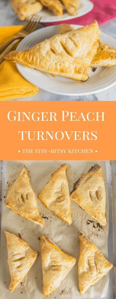 What do you serve for dessert when you're short on time? Ginger peach turnovers! They couldn't be a more simple dessert and they're just SO GOOD!