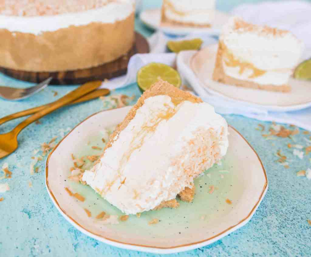 This coconut lime no-bake cheesecake is a perfect (and refreshing!) summer dessert, fit for any occasion!