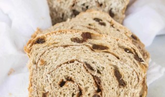Sourdough Cinnamon Raisin Swirl Bread