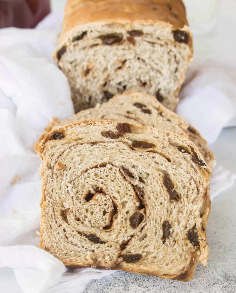 Homemade sourdough cinnamon raisin swirl bread is so much better than store-bought and makes the best toast you've ever had!