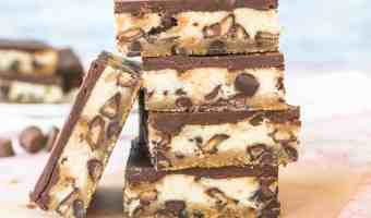 Shortcut Peanut Butter Cup Cheesecake Bars