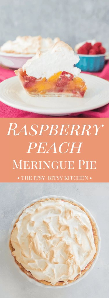 Meet my new favorite pie! This raspberry peach meringue pie is a delicious and crowd-pleasing summer dessert, perfect for the fruit lovers in your life.