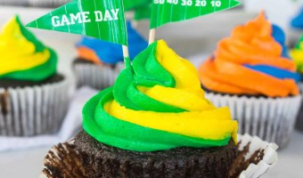 Game Day Chocolate Marshmallow Cupcakes