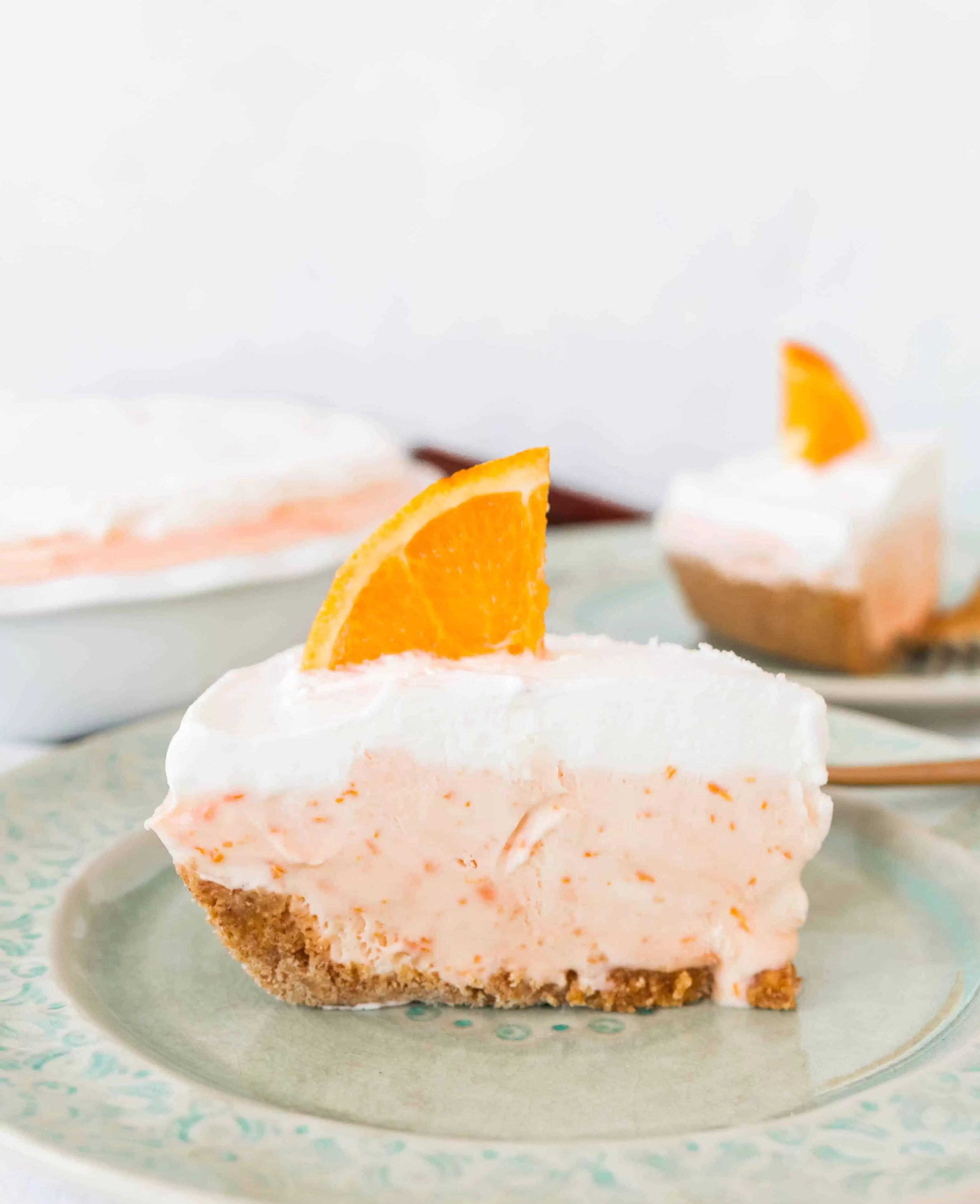 Easy Fuzzy Navel Ice Cream Pie - The Itsy-Bitsy Kitchen