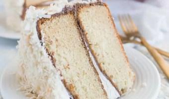 Coconut Nutella Layer Cake