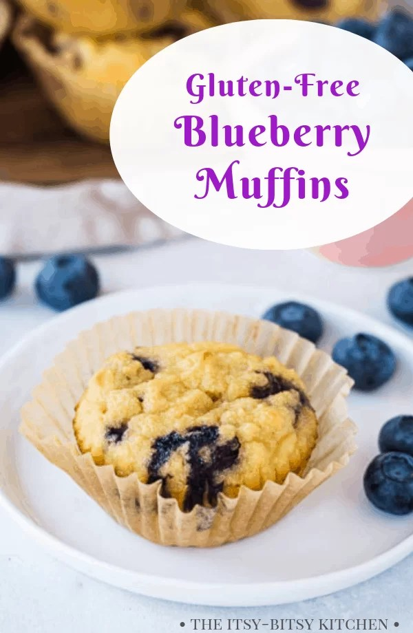 Pinterest image for blueberry muffins