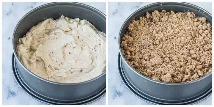 how to finish apple coffee cake step by step
