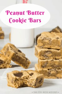 Pinterest image for peanut butter cookie bars