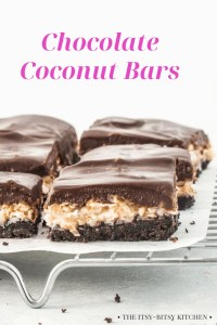 Pinterest image for chocolate coconut cookie bars