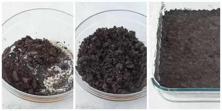 how to make oreo crumb crust step by step