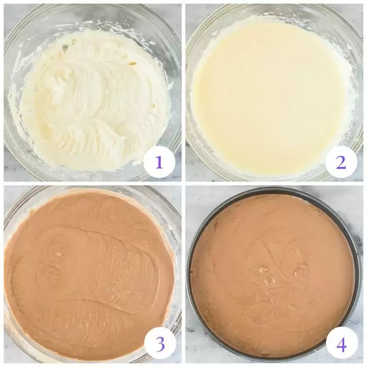 how to make chocolate amaretto cheesecake filling