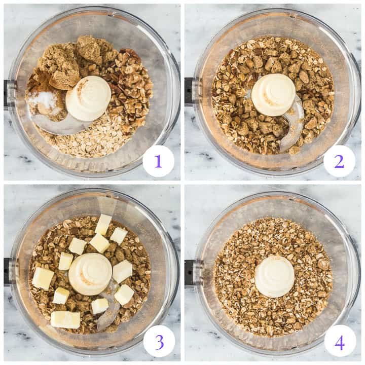how to make fruit crisp topping step by step