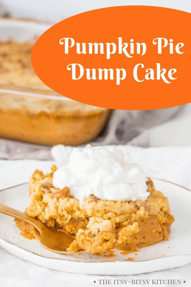 Pinterest image for pumpkin dump cake