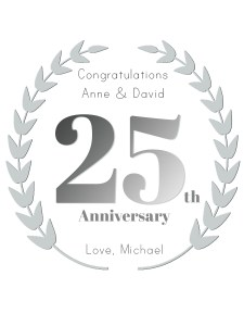 Personalised wine label for Anniversary