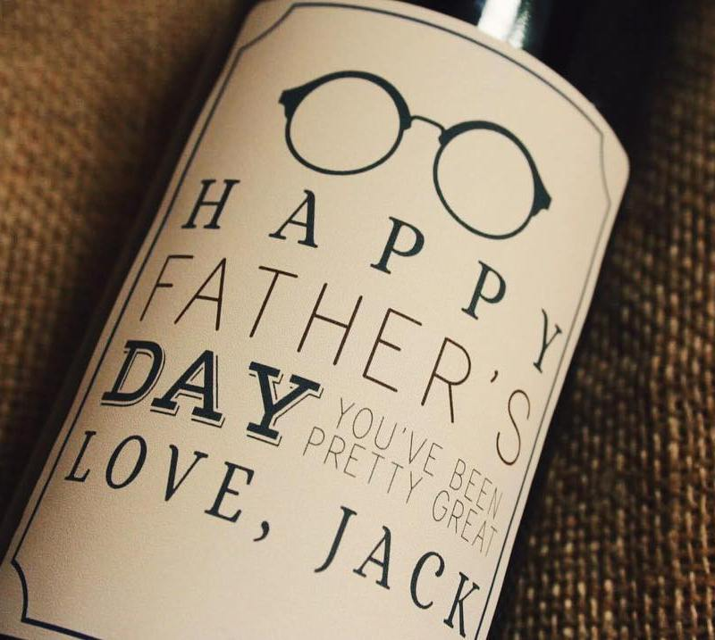 personalised wine label for Father's day