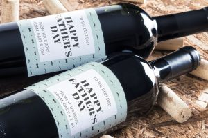 Personalised wine label for Fathers Day