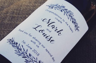 Personalised wine label for Weddings - Classy