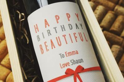 Personalised wine label for Birthdays - Classy