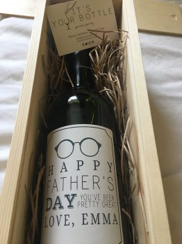 Fathers day - Personalised wine
