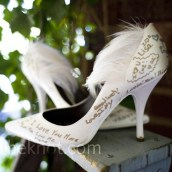 the knot bridesmaids signed shoes