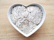 book hearts confetti via etsy