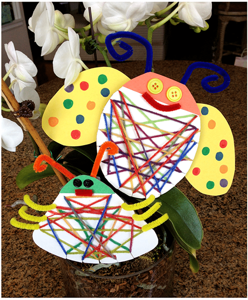 Earth Day Recycled Bugs
